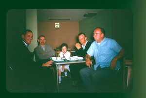 Fr Louis Nowak, George Bleskan, my sister Mary Alice McFarlane, Bill VanRossem and Don Amys in 1964.