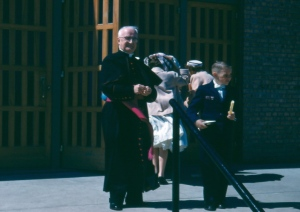 Msgr Kubelbeck at a First Communion mass in May 1957.